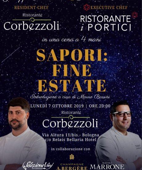 SAPORI: FINE ESTATE – Lunedì 7 ottobre 2019
